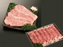 佐賀牛ロースステーキ+佐賀牛ロースすき焼き